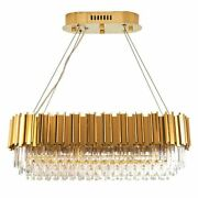 Golden Chrome Chandelier Lights Rectangle Shape For Living Rooms Luxury Fixtures