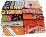 Indian Vintage Kantha Quilts Blankets Wholesale Lot 5 Pc Kantha Throws Handmade
