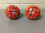 Pair Of Antique Vtg Kirchhof New Year Party Noisemakers With Original 25 Cents