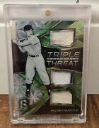 2017 Panini Triple Threat Green Mickey Mantle 7/7 Mick's Jersey 7 One Of A Kind