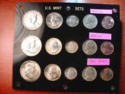 1953 Silver P/d/s Mint Set 15 Gorgeous Coins Many Incredibly Toned Coins 21