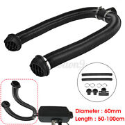60mm 2.36 Heater Pipe Duct T Piece Warm Air Outlet Vent Hose Clips For Domestic