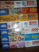Lot Of 7 White Mountain 1000 Piece Puzzles