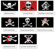 Pirate 3x5 Flags - Choose Your Pirate Ns35