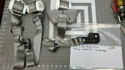18 19 20 Ford F150 Crew Cab Rear Seat Belts Set Left Right Center Grey [d3b1]