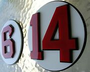 Red Sox 3d Complete Set Of 11 Number Signs Art Jersey Monster Boston Hall Citgo