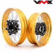 Vmx 3.019and039and039/4.517 Tubeless Wheels For Bmw R1200gs Adventure 2013-2020 Gold Rim