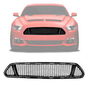 Black Abs For 15-17 Ford Mustang Front Upper Lightweight Mesh Grille Grill