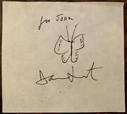 Damien Hirst Signed Butterfly Sketch / Drawing Brilliant Piece
