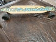 Live Adrenalina Longboard Skateboard With Monster Truck Tires Used Rare Board