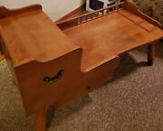 Ethan Allen Baumritter Vintage 1950 Maple Wood Cobblers Bench Table - Very Nice