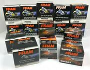 Lot Of 17 Assorted Fram Oil Filters - Motorcycle Atv - See Pics
