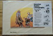 Lower Complete Set 6 Rodeo Lithographs National Finals Rodeo Hesston Sealed