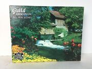 """New Vintage Guild 1000 Puzzle All New Scenes 21""""x27"""" Country Garden Usa"""