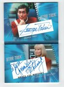 Star Trek Inflexions Acb2 George Takei And Grace Lee Whitney Autographed Card