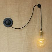 Antique Vintage Wall Lamp Black Cord Twist/standard Wire Lights And Ordinary Led