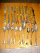 Vintage Antique Wm Rogers And Son China Silver Plate 20 Items Knives Spoons Fork