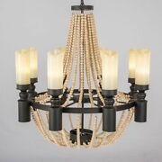 Classical Wood Pendants Light Retro Brown Environment-friendly Wooden Beaded New