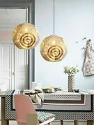 Gold Pendant Lights Stainless Steel Creative Globe Inside Led Silver Fixture New