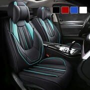 Luxury Leather Car Seat Covers 5 Seats Full Set Protector Universal Stereo Style