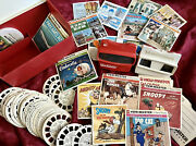 Large -vintage -view Master Collection -case - 2 Viewers- 72 Reels- Many Extras