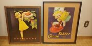 Nestle 1900s Vintage Chocolate Cacao Tobler Posters Prints Signed By John Onway