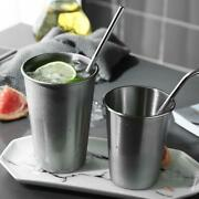 2pcs Stainless Steel Cups Tumbler Pint Glasses Metal Cold Cup Drinking Mug 16oz