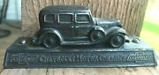 Old 1930's Advertising Chevrolet Motor Company Chevy Automobile Car Paperweight