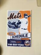 Ny Mets 2008 Build A Bear Pocket Schedule - Very Scarce