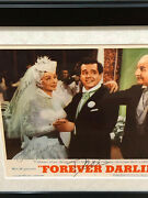 Rare Dual Signed Jsa Loa I Love Lucy Lucille Ball And Desi Arnaz 16x19 Display Bas