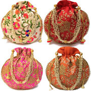 Lot Of 100 Indian Handmade Potli Bag Pouch Wedding Favor Return Gift For Guests