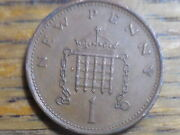1978 Uk One New Penny Coin Seller's 334