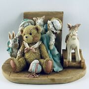 Cherished Teddies Early Rare Christopher Ro/857 Retired Bear Toy Chest Figurine