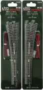 Kato Unitrack N Scale 6 Electric Turnout Point Left 20-202 Right 20-203 Set