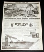 1919 Old Magazine Print Ad, Ives Toys Make Happy Boys, At Toy Stores Everywhere