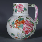 6.7 Antique Fine Chinese Porcelain Yongzheng Mark Famille Rose Peony Teapots