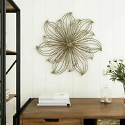25 Inch Large Wire Flower Metal Indoor Wall Hanging 3d Floral Home Decor