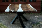 Live Edgeandnbsp Epoxy Resin - River Table Made Whit French Walnut