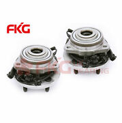 Pair Set Of 2 Front Wheel Hubs And Bearings New For 2002-2007 Jeep Liberty W/ Abs