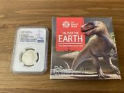 2020 Megalosaurus Silver Proof 50p Royal Mint Ngc Pf70uc Early Releases +coa