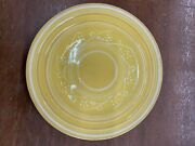 Vintage Pacific Pottery Dinner Plate 613 Yellow With White Pattern California