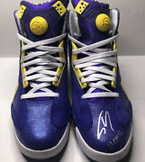 La Lakers Shaquille O'neal Signed Reebok Pump Up Sneakers Psa Ins Hof 16 Size 13