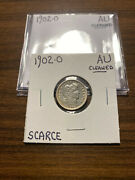 1902-o Barber Silver Dime 10c Almost Uncirculated Au Cleaned