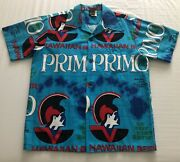 Hawaiian Holiday Rare Vintage Primo Beer Brew Shirt Sports Wear Made In Hawaii L