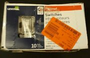 10 Leviton White Framed Toggle Wall Light Switches Single Pole 15a 120v Rs115-2w