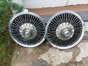 1969,1970,1971,1972,1973 Mercury Cougar Ford Mustang Wire Hubcaps
