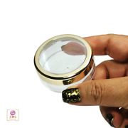 195 Cosmetic Jars Empty Makeup Containers Gold Trim Acrylic Lid 20 Gram 3022