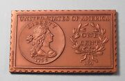 1796 United States Draped Bust Large Cent Numistamp Medal Coin 1976 Mort Reed