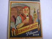 1940's Ann And Bill Log Cabin Braumeister Beer Wisconsin Dells Wis Matchcover Wi
