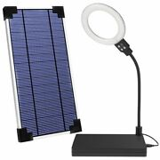 Modern Led Ring Lights With Solar Panel Stainless Body Dimmable Outdoor Lamp New